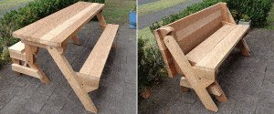 One-Piece Folding Picnic Table Out of 2x4 Lumber : start 1