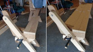 One-Piece Folding Picnic Table out of 2×4 Lumber : step 10b