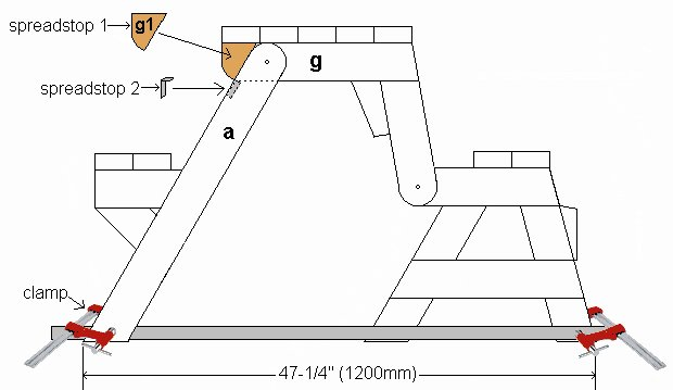 One-Piece Folding Picnic Table out of 2×4 Lumber : step 14a