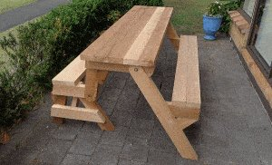One-Piece Folding Picnic Table out of 2×4 Lumber : step 16a2