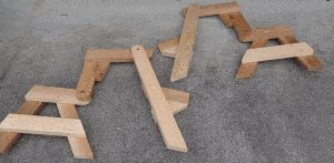 One-Piece Folding Picnic Table out of 2×4 Lumber : step 7b