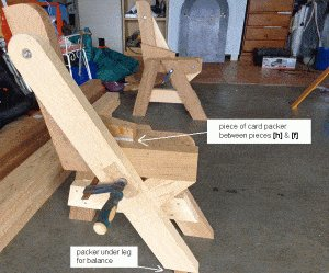 One-Piece Folding Picnic Table out of 2×4 Lumber : step 9a
