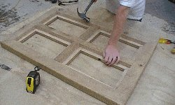 10 x 10 Tudor Style Shed : shed window being made