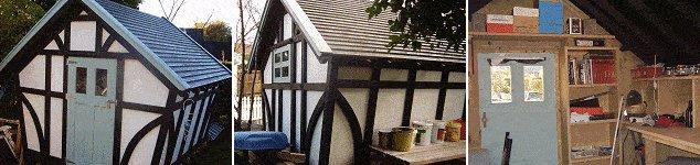 10 x 10 Tudor Style Shed : finished Tudor style storage shed