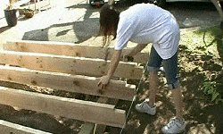 10 x 10 Tudor Style Shed : shed floor joists being fixed