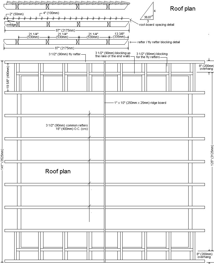 10 x 10 Tudor Style Shed : Shed roof plan