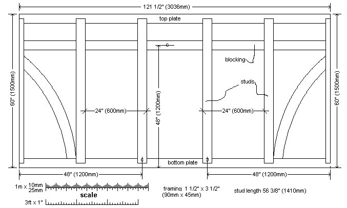 Shed side wall plan