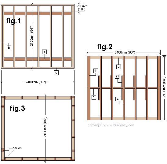 Board and Batten Shed Floor Roof and Stud Layout Plans