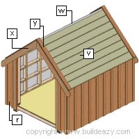 Board and batten Shed Plans : The Trims and Battends Being Applied to the Board and Batten Shed