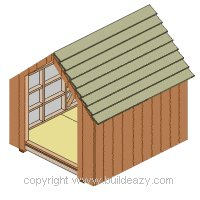 Board and batten Shed Plans : Shed Having its Vertical Boards Fixed