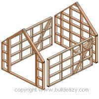 Board and batten Shed Plans : Frames