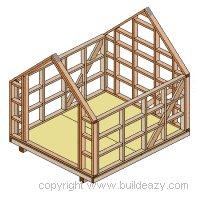 Board and batten Shed Plans :  Frames Being Put Together