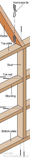 Board and batten Shed Plans : Construction Nailing Detail
