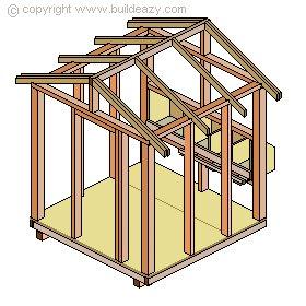 Chicken Coop Roof Frame
