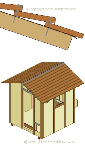 Chicken Coop Roof and Wall Battens