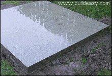 A finished concrete floor slab