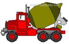 a concrete truck
