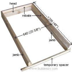 Playhouse Plans : Door Frame Parts