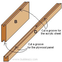 Playhouse Plans : Groved Door Styles