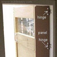 panel over the playhouse door jamming hazard area