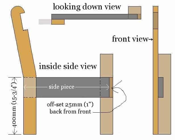 garden chair side piece