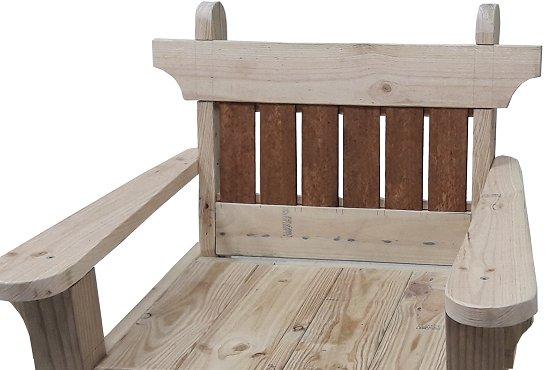 back slats in a garden chair