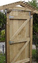 gated arbor gate fixed in position