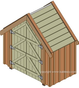 Narrow Shed With Board and Batten Siding