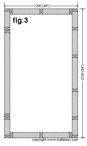 Narrow Backyard Shed : Stud Layout Plan