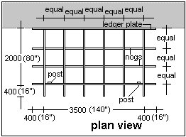 attached pergola plan view
