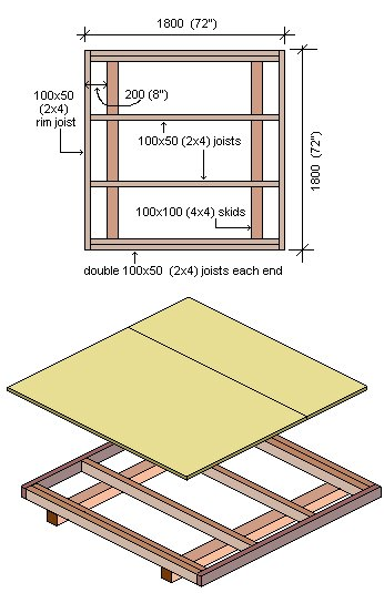 Playhouse Plans : Wood Floor Plan
