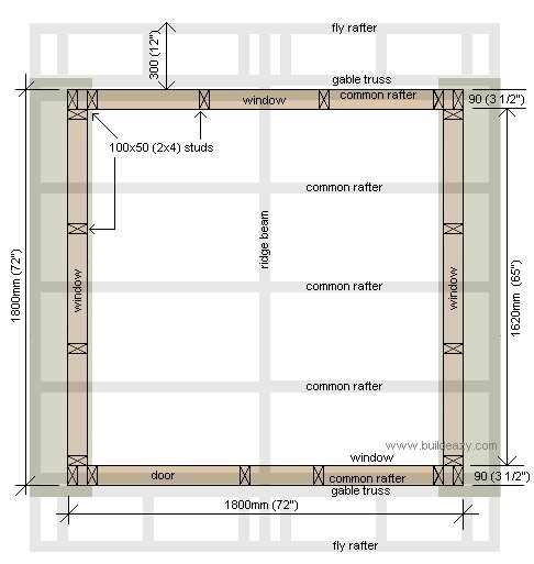Playhouse Plans : Footprint Plans