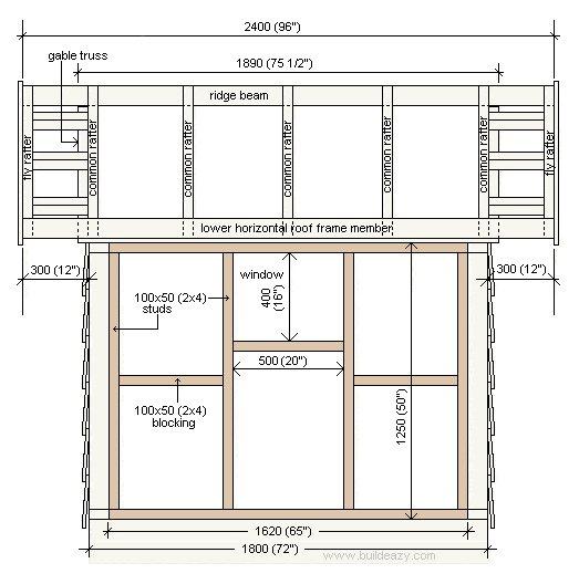 Playhouse Plans : Side Elevation Plan