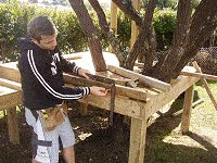 Treehouse Plan : Mark for The Handrail on the Tree House