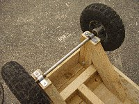 Platform Cart Project :  Add Wheels And Axle