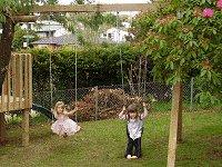 swings on a swing-set frame