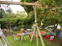 Treehouse Plan : Prop Up the Swing-Set Beam