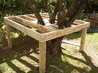 Treehouse Plan : Block the Joists in the Tree House Floor