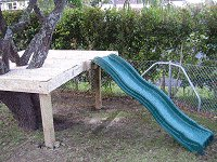 Treehouse Plan : Attach the Slide to the Tree House Floor