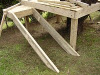 Treehouse Plan : Lay the stair Stringers in Position Against the Tree House