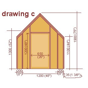 playhouse front wall plan