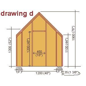 playhouse rear wall plan