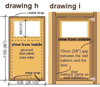 Playhouse Door Plan