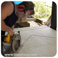 Cutting the Plywood Wall Panels