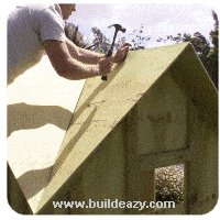 making and fitting the playhouse roof beams