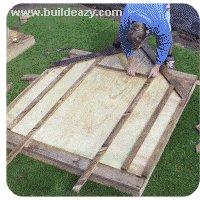 making the playhouse walls