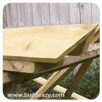 ridge beam ends angled