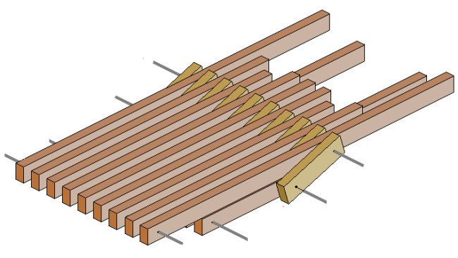 Folding Stick Chair Plan : Seat Pieces All Joined Together