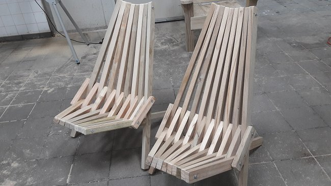 stick chair two versions finished