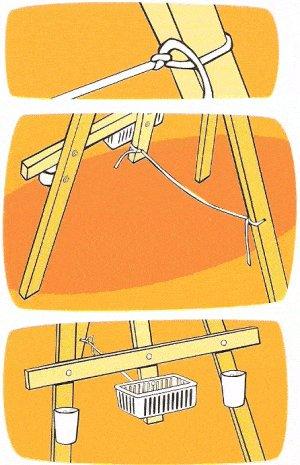 Kids Multipurpose Easel : Rope Added to Easel